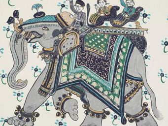 HERMES / DEDAR - beloved india imprimé - Tissu D'ameublement