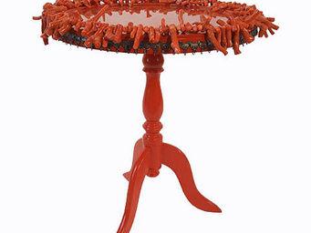 RELOADED DESIGN - mini table verso sud orange coral - medium - Table D'appoint