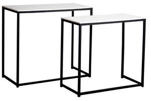 Aubry-Gaspard - console en bois et métal (lot de 2) - Console