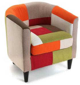 VERSA - fauteuil club patchwork vitaminé - Fauteuil
