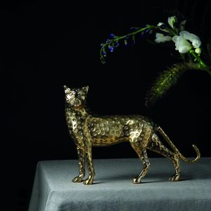 &klevering - panther brass - Statue