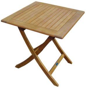 PROLOISIRS - table en eucalyptus sophie - Table De Jardin Pliante