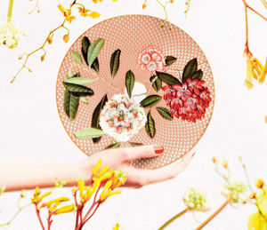 Raynaud - trésor fleuri - Assiette Plate