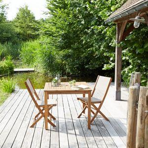 BOIS DESSUS BOIS DESSOUS - salon de jardin en bois d'acacia fsc 2 places - Salle À Manger De Jardin