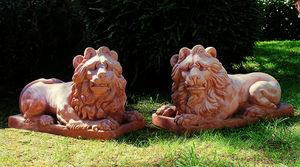 Enzo Zago - lions - Sculpture Animalière