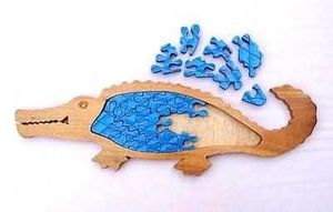 Indonesia Wooden Toys Corps - alligator - Puzzle Enfant