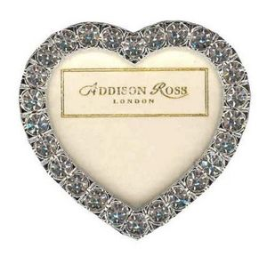 Addison Ross - 2 heart clear diamante  - Cadre Photo
