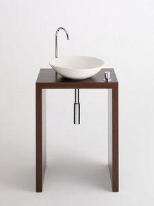 Design & Handwerk - wengetisch furniert mit tadelaktschale - Meuble Vasque