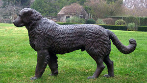 BARBARA ISRAEL GARDEN ANTIQUES - cast-iron newfoundland - Sculpture Animalière