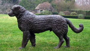 BARBARA ISRAEL GARDEN ANTIQUES - cast-iron newfoundland - Sculpture Animalière