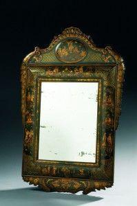 Aveline - miroir allemand en laque polychrome - Miroir