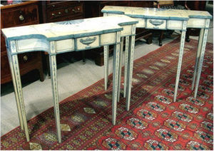 ERNEST JOHNSON ANTIQUES - painted console tables - Console