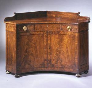 CARSWELL RUSH BERLIN - rare brass-mounted mahogany corner sideboard - Buffet D'angle