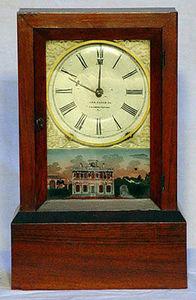 KIRTLAND H. CRUMP - unusual rosewood eight day time and strike mantel - Horloge À Poser