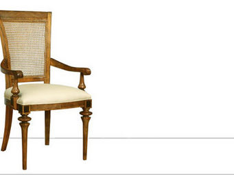 Frank Hudson - cane back carver - Chaise