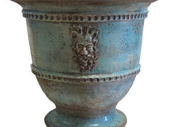 PLANTERS-CONTACT-PROVENCE - grand vase bachus turquoise ø 85cm, h80cm, 85kg - Vase Grand Format
