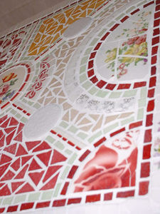 Mosaïque Patatras - mosaique sur meuble - Mosaïque