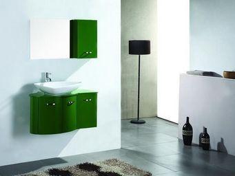 UsiRama.com - meuble salle de bain ver-vert design luxe 900mm - Meuble De Salle De Bains