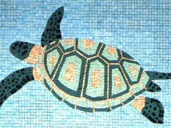 Atelier Andamento Mosaique - tortue - Carrelage De Piscine