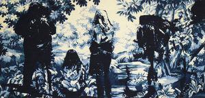 NEOLICE - en forêt e1 - Tapisserie Contemporaine
