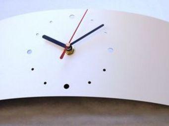 L'HEURE DU DESIGN - horloge design jupiter blanche - Horloge � Poser