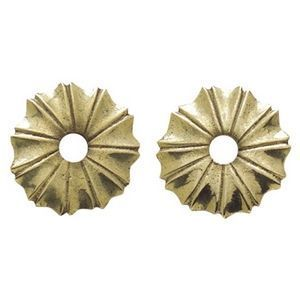FERRURES ET PATINES - rosace de meuble ronde en bronze style louis xiv d - Rosace De Porte