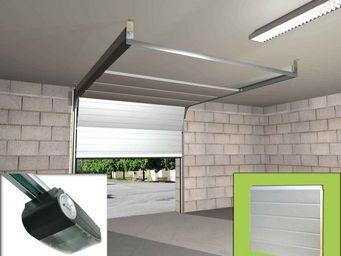 Wimove - ensemble porte sectionnelle motorisee panneaux rai - Porte De Garage Basculante