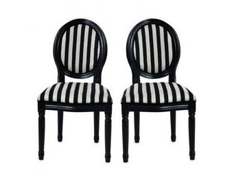 Miliboo - lot de 2 chaises baroques medaillon - Chaise M�daillon