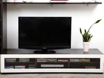 Miliboo - symbiosis meuble tv 1m89 chocolat - Meuble Tv Hi Fi