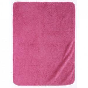 Essix - serviette de bain elliot et manon - cyclamen - 75x - Serviette De Toilette Enfant