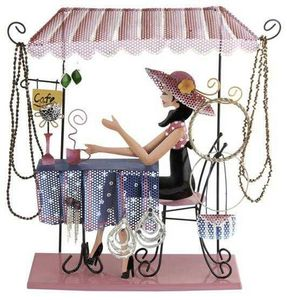Balvi - porte bijoux coffee girl en métal - Porte Bijoux