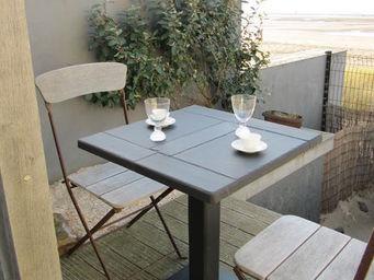 Le Trefle Bleu - 60/60 cm - Plateau De Table Bistrot