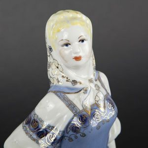 Expertissim - deux statuettes en porcelaine russe - Statuette