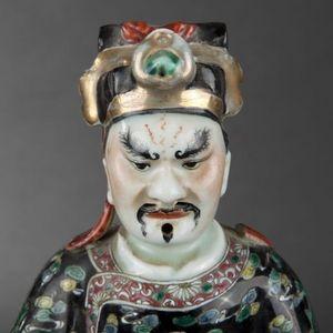Expertissim - paire de dignitaires en porcelaine de chine - Statuette