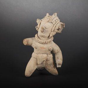 Expertissim - personnage en terre cuite. equateur, jama coaque - Objet D'art Pr�colombien