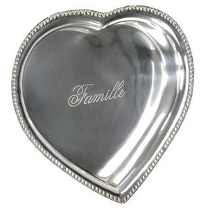 Maisons du monde - coupelle coeur métal festif - Coupelle