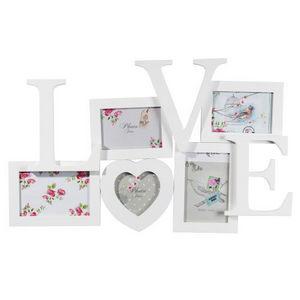 MAISONS DU MONDE - cadre 5 vues love blanc - Cadre Photo