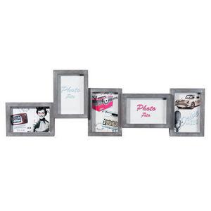 Maisons du monde - cadre 5 vues ethan gris - Cadre Photo