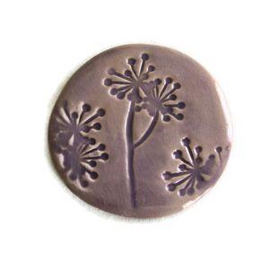 TERRE COLOR�E - dessous de plat galet c�ramique - fleur des champs - Dessous De Plat