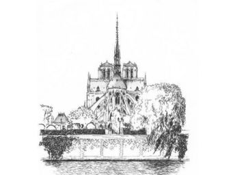 IN CREATION - carnet de voyages - notre-dame - Panneau D�coratif