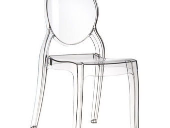 Alterego-Design - chaise design 'eliza' transparente - Chaise M�daillon