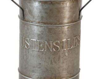 Antic Line Creations - pot de rangement zinc ustensiles cuisine - Range Couverts