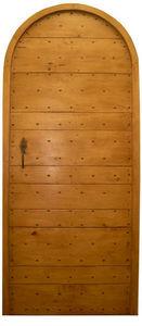 Portes Anciennes - modèle lames croisées tilleul plein cintre - Porte De Communication Pleine