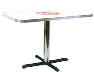 US Connection - table de cuisine : coca cola - Table Bistrot