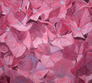 Atelier Follaco - hortensia - Décoration Murale