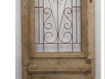 Portes Anciennes -  - Porte D'entr�e Vitr�e