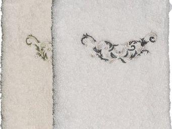 SIRETEX - SENSEI - gant eponge brodé valse 550gr/m² coton - Gant De Toilette