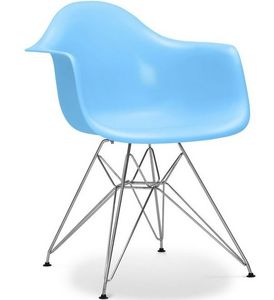 Charles & Ray Eames - chaise eiffel ar bleu charles eames lot de 4 - Chaise Réception