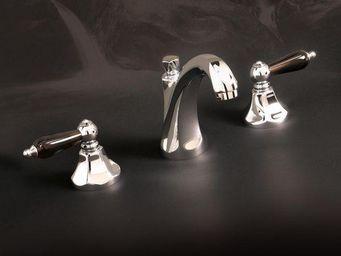Cristal Et Bronze - charlety obsidienne - M�langeur Lavabo 3 Trous
