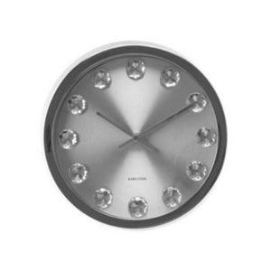 Present Time - horloge diamant alu - Horloge Murale